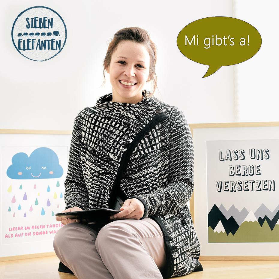 Andrea Ortner aus Altenmarkt • SIEBEN ELEFANTEN Grafikdesign & Papeterie